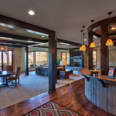 Rustic Basement by Advance Cabinetry MI