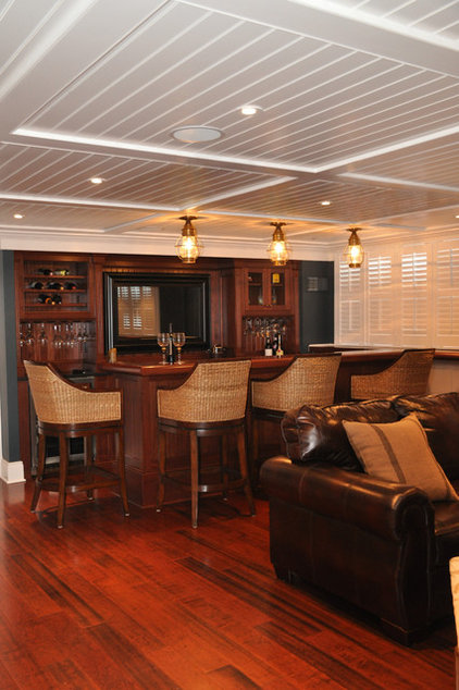 Traditional Basement by Scandic Builders, Inc.