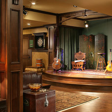 Traditional Basement by Carisa Mahnken Design Guild