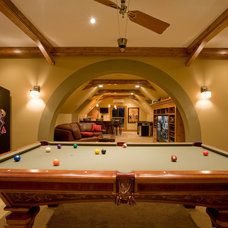 Traditional Basement by Murphy & Co. Design