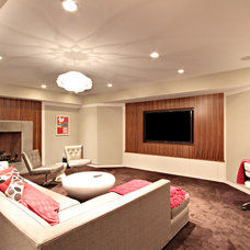 Contemporary Basement by D.A.S. Custom Builders