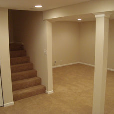 Contemporary Basement by Cypress Construction & Remodeling