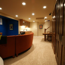Contemporary Basement by A Better Home