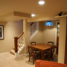Traditional Basement by A Better Home