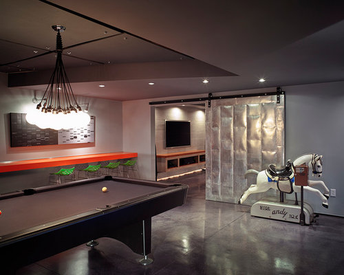 Home Design Ideas Pictures: Modern Basement Design Ideas, Pictures, Remodel & Decor