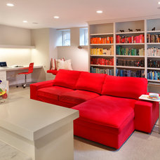 Contemporary Basement by Awad + Koontz Architects Builders
