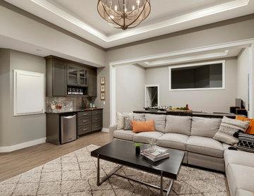 Refined - Lower Level Family Room   Che Bella Interiors