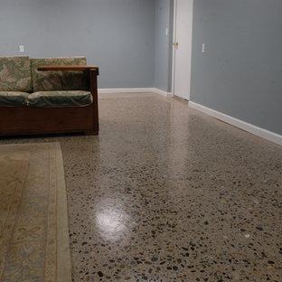 Refinished Concrete Basement Floor