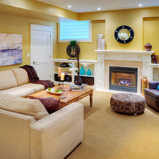 Traditional Basement by Shouldice Media