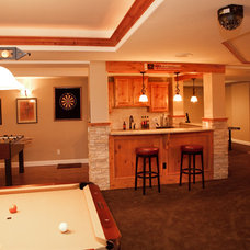 traditional basement by Owner Assist Remodeling