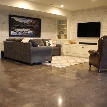 Residential Basement Polish - Living Room
