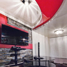 Modern Basement by Universal Stretch Ceilings