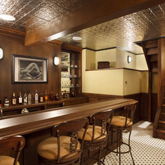 traditional basement by Logan Street Fine Wood Products