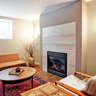 Inspiration for a modern basement remodel in Toronto