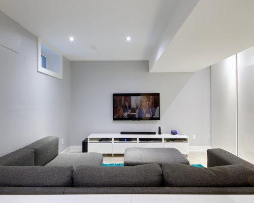 Moderne keller mit betonboden ideen design bilder houzz for Keller wandfarbe
