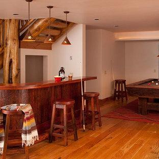 Esempio di una taverna stile rurale