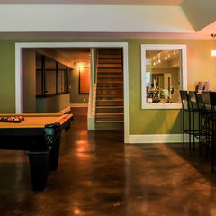contemporary basement by Daniel M Martin, Architect LLC