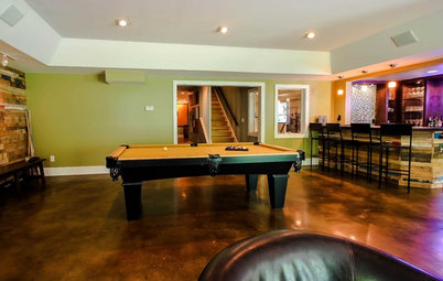 Basement of the Week: Personality and Amenities Create a Comfy Lounge