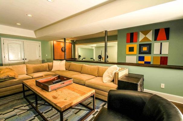 Contemporary Basement by Daniel M Martin, Architect LLC