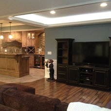 Traditional Basement by Majestic Home Solutions LLC