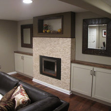 Contemporary Basement by Buckeye Basements, Inc.