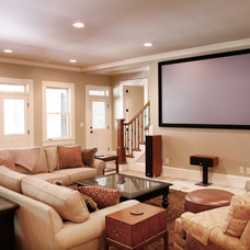 Traditional Basement by Distinctive Remodeling Solutions, Inc