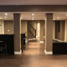 modern basement by Urban Abode