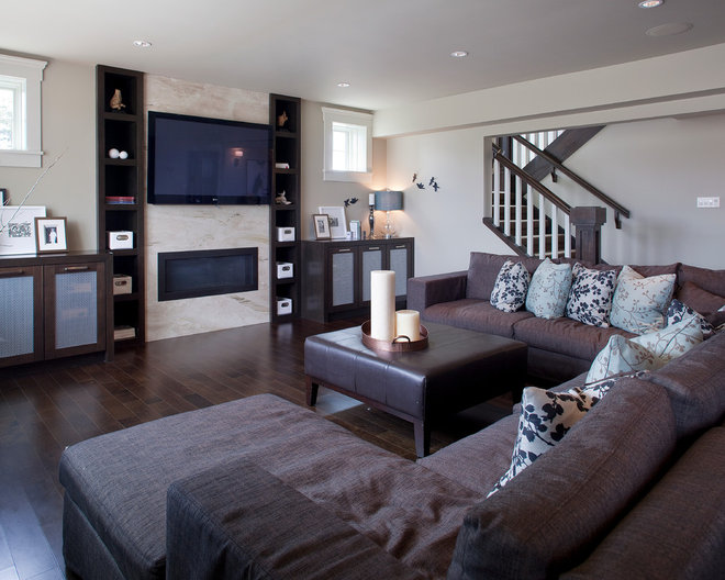 Traditional Basement by Riverview Custom Homes