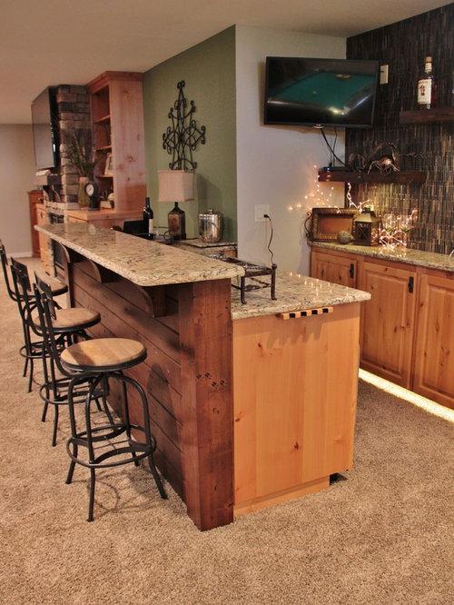 Rustic Basement Bar Houzz