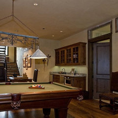 traditional basement by Timothy F. White