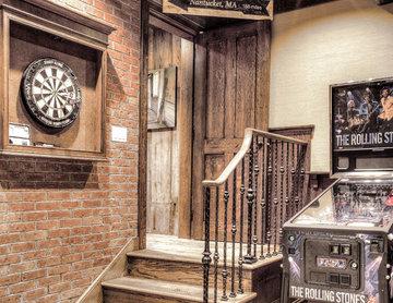 Rustic Gameroom Stairway Installation