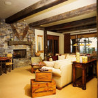 Wilson Mountain Residence - Rustic - Living Room - Denver - by Poss Architecture + Planning and ...