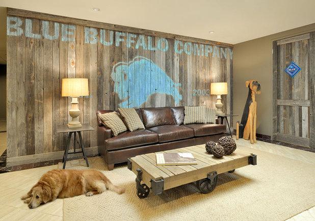 Contemporary Basement by Beth Rosenfield Design, LLC – Associate ASID