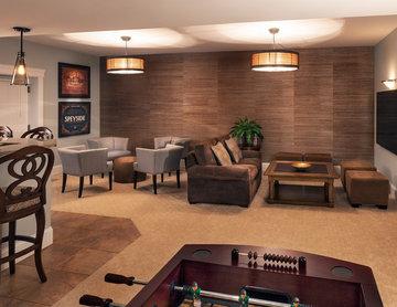 Rustic Urban Lounge Basement