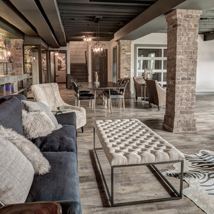 Rustic Walkout Basement