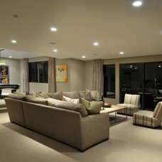Modern Basement by CD Construction, Inc.