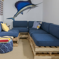 eclectic basement by Alex Amend Photography