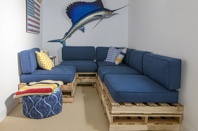 Beach Style Basement by Alex Amend Photography