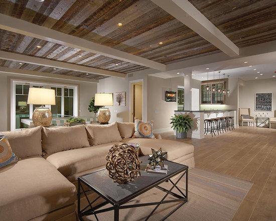 9 Long Narrow Room Farmhouse Basement Design PhotosBest 70 Ideas Remodeling