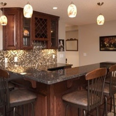 Traditional Basement by Country Creek Builders Inc