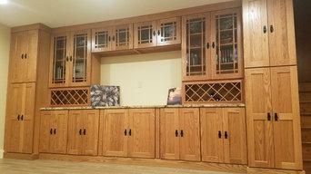 Shenandoah Oak Wall Built-In