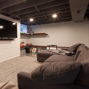 Ship Lap TV Wall and Floating Shelves in Elmhurst, Illinois