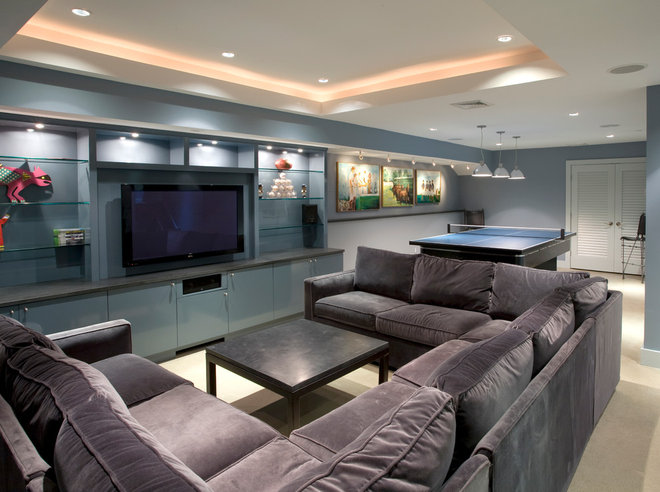 Contemporary Basement by Siegel Architects