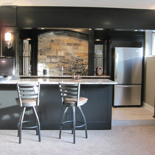 Basement - contemporary basement idea in Other
