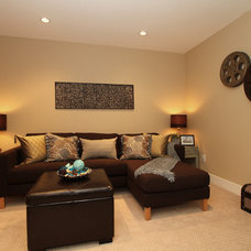 Contemporary Basement by KASHMIR DHALIWAL FINE REDESIGN.