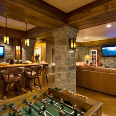 Rustic Basement by Witt Construction