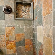 Traditional Basement by Lifestyle Basements|Kitchens