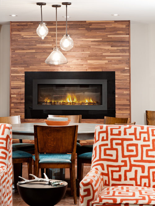 SaveEmail - Reclaimed Wood Fireplace Surround Houzz