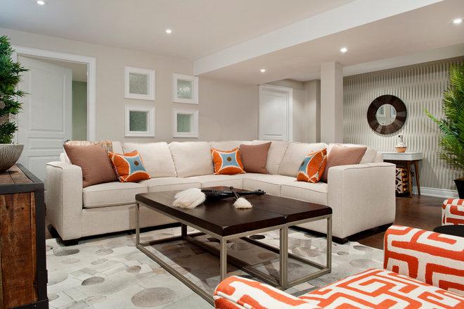 Contemporary Basement by Gabriele Pizzale Design Inc.