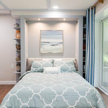 Smith Mountain Lake Basement Lounge Space- Murphy bed open view